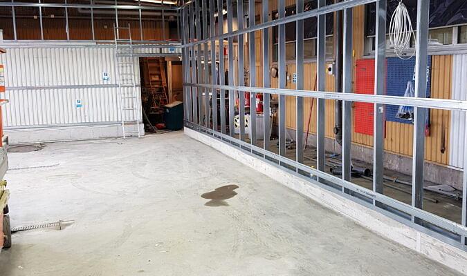 OKQ8 Västberga ombyggnation verkstad till snabbtvätt